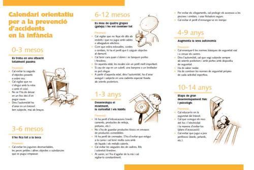 prevenció accidentes a la infància gneralitat